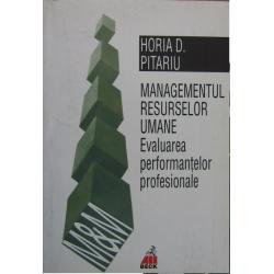 Managementul resurselor umane. Evaluarea performantelor profesionale